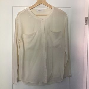 "Everlane ""The Silk Pocket ""  long sleeve blouse"